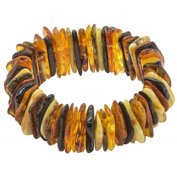 Bracelet d'ambre multicolore forme naturel