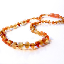Honey amber necklace baby raw honey