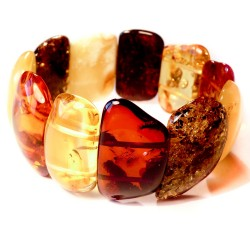 Multicolored Amber Bracelet