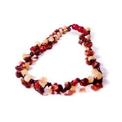 Multicolored baby amber necklace 3 lines