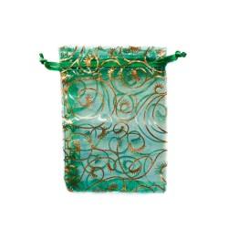 Organza Bolsa de decoración vegetal verde
