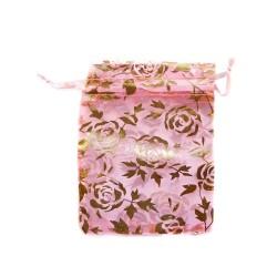 Organza Bolsa de decoración color de rosa de color rosa