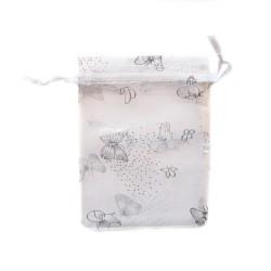 Bolsa de organza decoración de la mariposa blanca