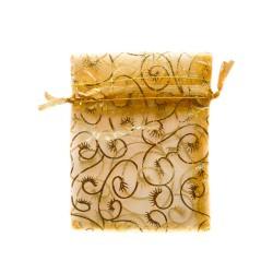decorazione vegetale in oro Organza Bag