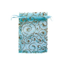 Organza Beutel blau dekorative Pflanze