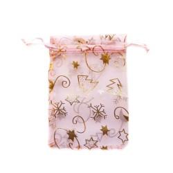 粉红色的纱袋圣诞装饰