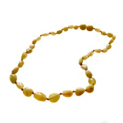 Baby amber necklace, olive amber white