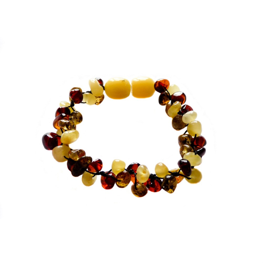 bracelet ambre b b multicolore 3 lignes bijoux d 39 ambre. Black Bedroom Furniture Sets. Home Design Ideas
