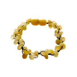 Bracelet ambre royal bébé 3 lignes noir