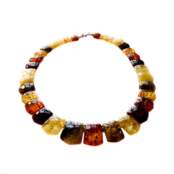 Collier d'ambre multicolore adulte