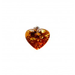 Big Heart Amber Honey and Silver