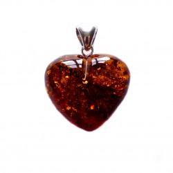 Big heart in cognac amber