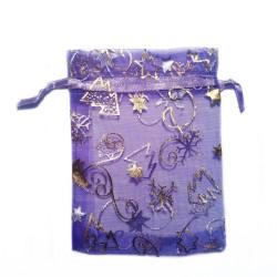 紫纱袋暗圣诞装饰