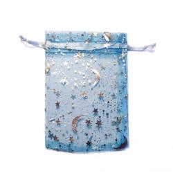 Borsa blu del organza blu stellato cielo decorazione