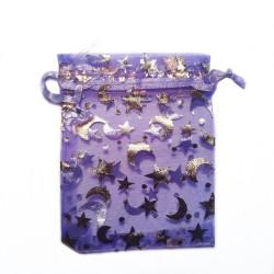 Organza Bag luna viola e decorazione della stella