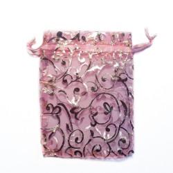 Organzabeutel rosa Pflanzendekoration