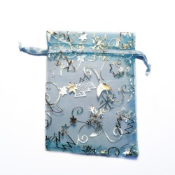 Organza bag blue sky christmas decoration