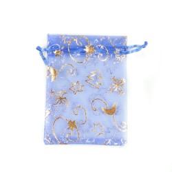 纱袋蓝色圣诞装饰