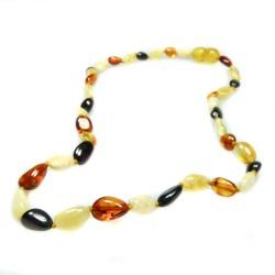 Collier d'ambre bébé multicolore perle olive