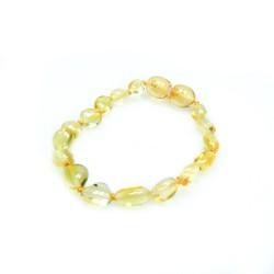 Bracelet en ambre bébé citron