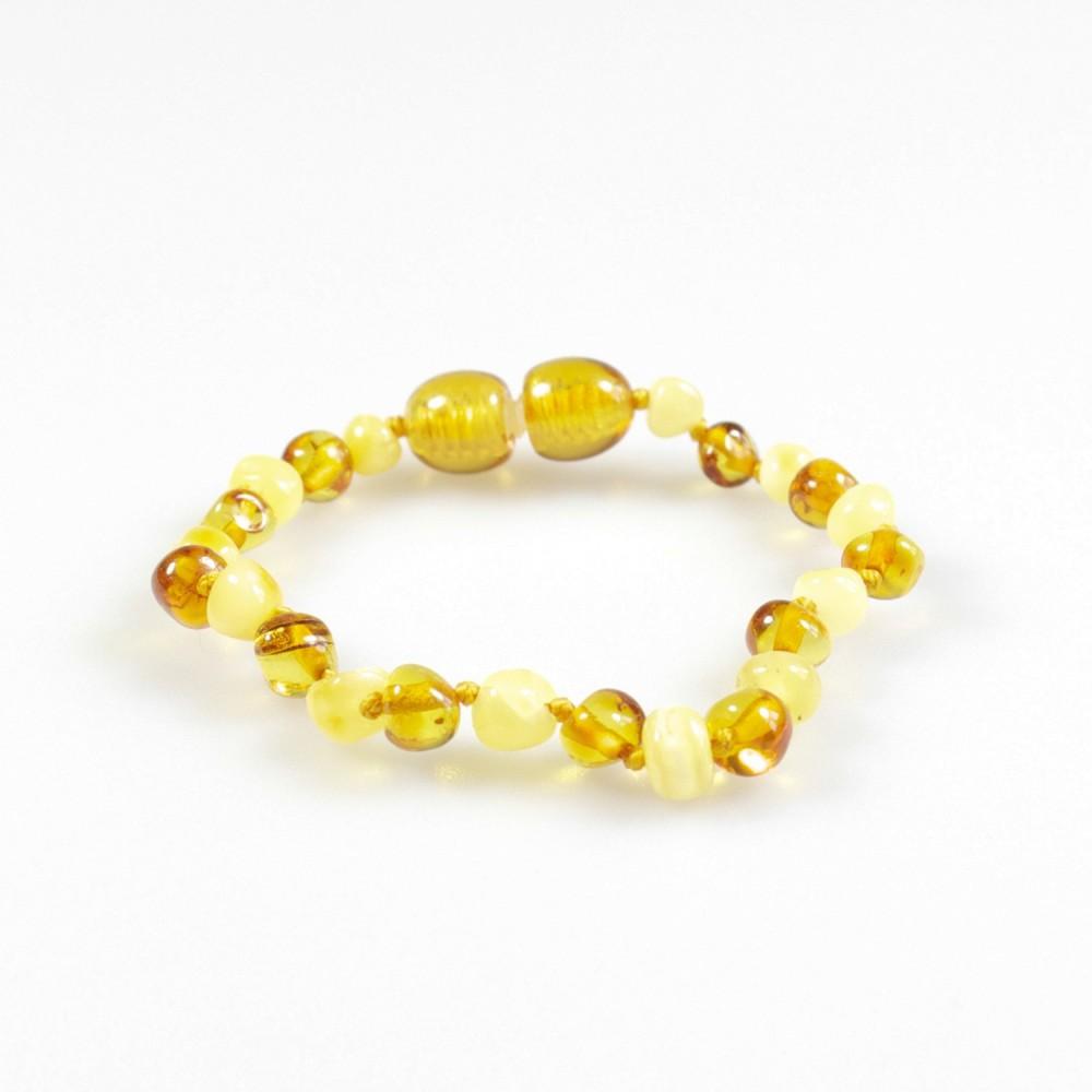 bracelet ambre b b miel et blanc bijoux d 39 ambre. Black Bedroom Furniture Sets. Home Design Ideas