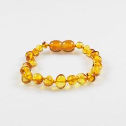 Baby-Armband bernsteinfarbener Honig