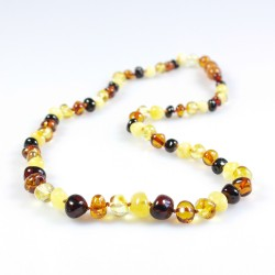 Collier Ambre Adulte perle multicolore