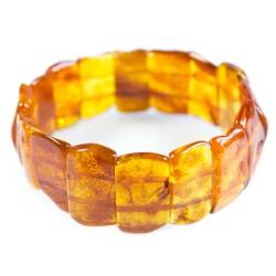 Armband Bernstein erwachsene natürliche Honigfarbe Form