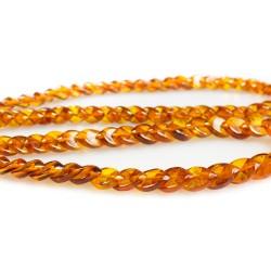 erwachsener Bernstein Stein Diamant-Halskette Farbe des Honigs