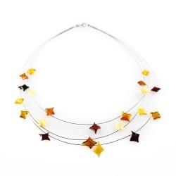 collar de ámbar natural con forma de estrella de la perla