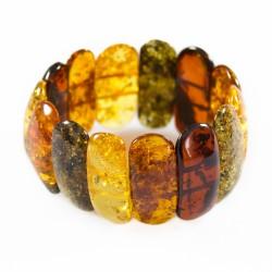 Big multicolored natural amber bracelet