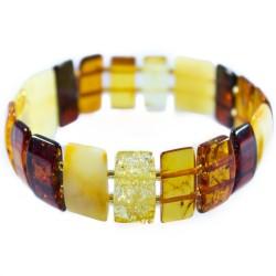 Armband bernsteinfarbene rechteckige Stein für Erwachsene