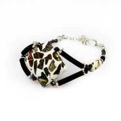 Bracelet ambre mozaïque forme losange
