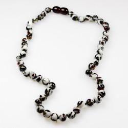 erwachsener Bernstein Halskette kirschrote Farbe Mosaik