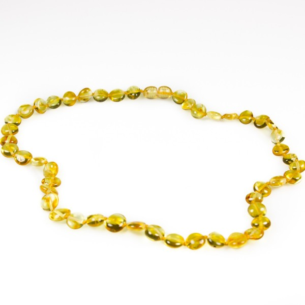 Collier d'ambre adulte couleur miel/citron