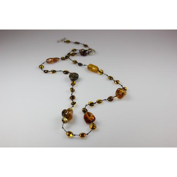 Collier d'ambre pour adulte miel et cognac
