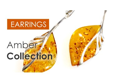Amber earrings collection